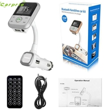 Alta Calidad Del Coche Del LCD Bluetooth Reproductor de MP3 FM Del Modulador Del Transmisor SD USB Remoto Para Teléfono TR