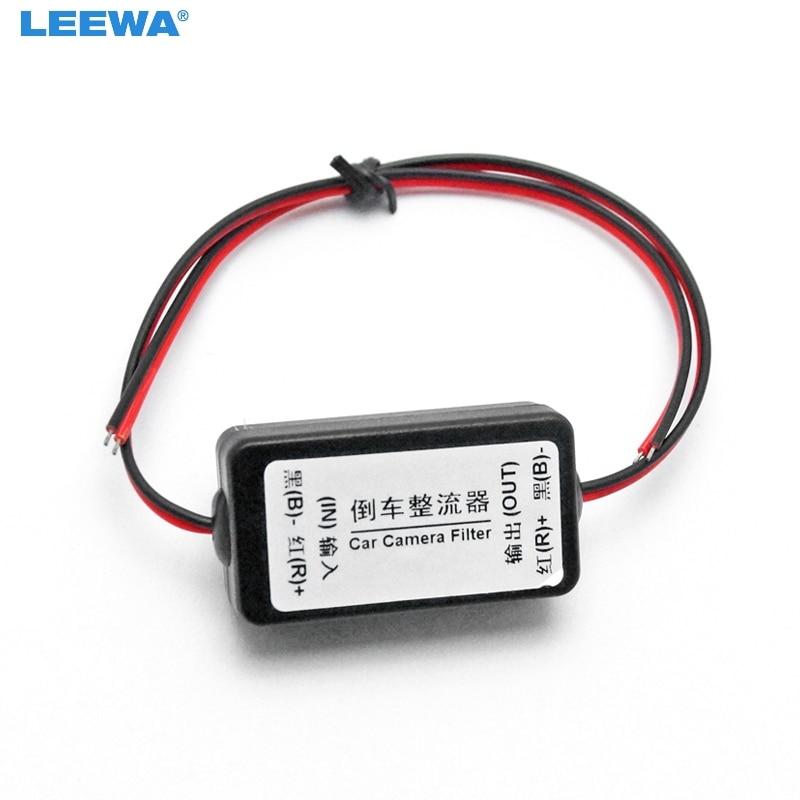 LEEWA 20X 12V Power Filters Reversing Rectifier Ballasts Solve Rear View Camera Ripple Splash Screen Interference