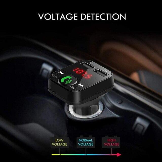 Tendway ładowarka samochodowa bezprzewodowy zestaw samochodowy bluetooth wyświetlacz LED mobilna wielofunkcyjna ładowarka usb nadajnik FM odtwarzacz MP3 ładowarka samochodowa