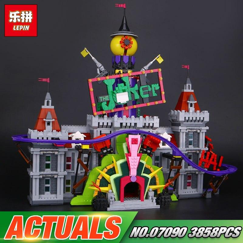 En Stock Lepin 07090 Hot-vente 3857 Pcs Super Hero Série Le Manoir de Joker Ensemble 70922 Blocs de Construction briques De Noël Enfants Cadeaux