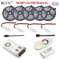 30M 20M LED Strip RGB 5050 SMD Waterproof Diode Tape In Line Tape Light +RF 2.4G RGB Controller Touch Panel 12V LED Power Supply