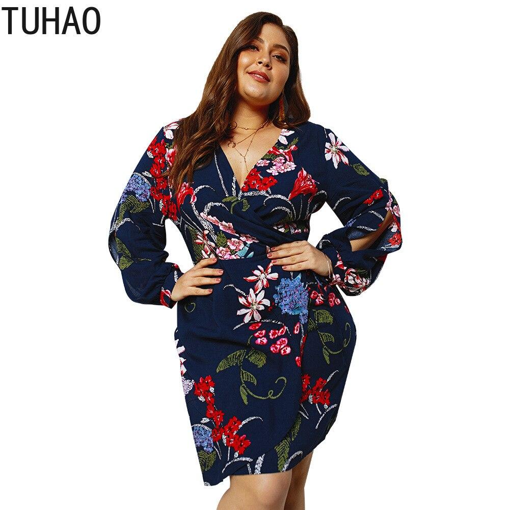 1e6cd5596b5696a TUHAO большой размеры 4XL 3XL женские платья для женщин богемный стиль  платье 2019 сезон: весна
