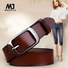 Ladies Luxury Genuine Leather Pin Buckle Belt