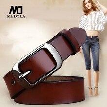 MEDYLA Female belt Women genuine leather fashion all match belt women s cowhide casual pants belt