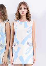 50 OFF Free Shipping Winter Fashion Dress High Quality Cheap Price Rhinestone Real Pocket Sleeveless Women