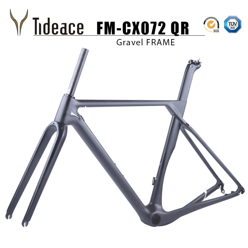 2019 Full Carbon gravel frame Thru axle Di2 Gravel Bicycle Frame Disc Bike axle 142 12