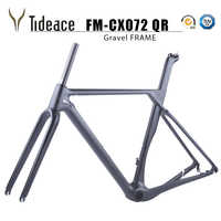 2019 Full Carbon gravel frame Thru axle Di2 Gravel Bicycle Frame Disc Bike axle 142*12 or 135*9 XS/S/M/L/XL