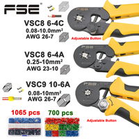 Crimping pliers VSC8 10 6A 6 4C VSC9 16 4A 0.08 16mm2 26 5AWG for tube type needle type terminal manual adjustable tools