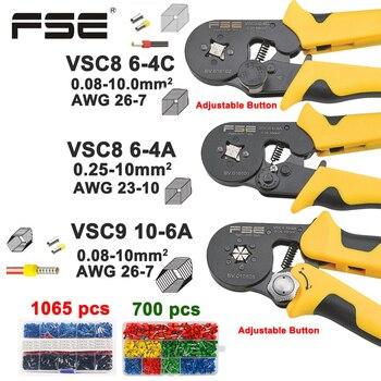 Krimptang VSC8 10-6A 6-4C VSC9 16-4A 0.08-16mm2 26-5AWG Voor Buis Type Naald Type Terminal Handmatig Verstelbare Gereedschap