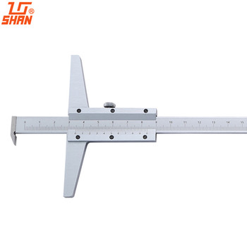 SHAN Depth Calipers 0-300mm/0.05mm With Hook Vernier Calipers Metric Gauge Micrometer Measure Tools