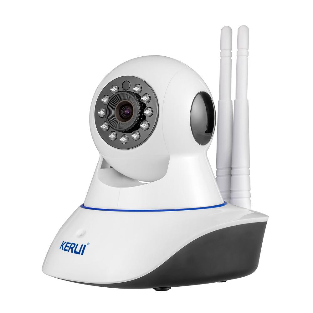 KERUI Wireless WiFi HD IP Camera WiFi GSM Home Intruder Burglar Alarm System Security 720P GSM Surveillance Device