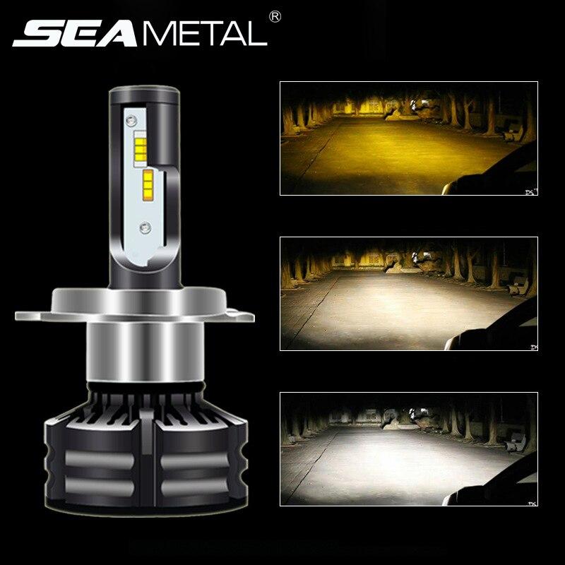 LED Car Headlights Bulbs H1 H3 H4 H7 H8 H9 H11 9005 9006 DC 12V 60W