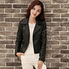 Liva Girl Autumn Women S Fashion Jackets Plus Size Long Sleeve Solid Color Slim PU Jackets