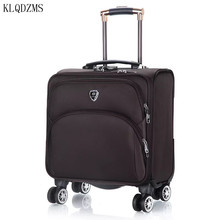 Trolley-Bags Travel-Suitcase Spinner-Carry Business KLQDZMS 18inch Oxford Waterproof