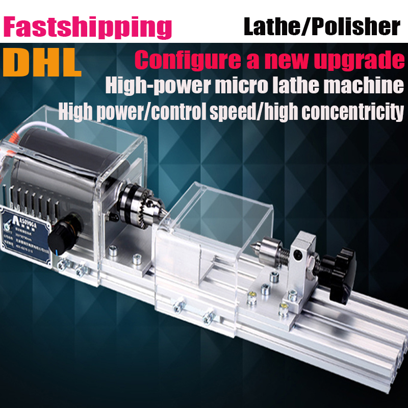 DIY Multifunction Wood Lathe Mini Lathe Machine Polisher Table Saw for polishing Cutting for wood working 350w adjustable double bearing live revolving centre diy for mini lathe machine