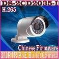 Firmware chinês Full HD 1080 P Câmera IP POE DS-2CD2035-I H.265 Infraed CCTV Câmera Mini Câmera da Bala Ao Ar Livre