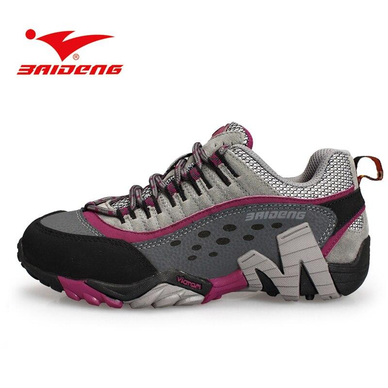Baideng das mulheres atléticas sapatas do esporte das sapatilhas das mulheres  Tênis Para Caminhada ao ar livre sapatos de escalada de Montanha de  trekking ... 8f786ca5e418d