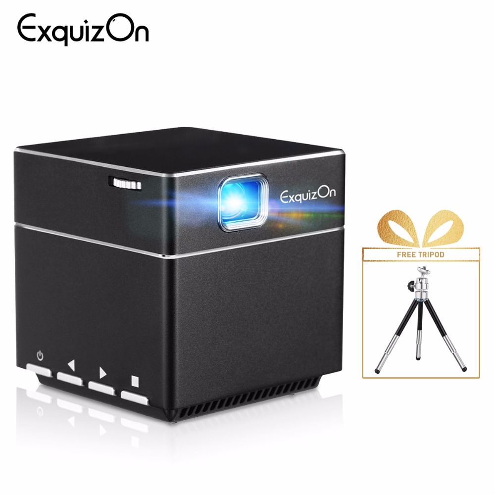 Exquizon DLP S6 Mini Pocket TI Technology Home Theater Portable Projector 1080P Reader Low-noised for Home Outdoor Activities Гриль