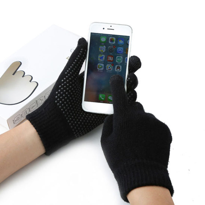 winter touchscreen Gloves Anti-skid Gloves mobile phone smartphone luva driving screen glove men women  warm eldiven guantes
