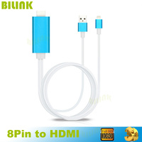 Newest HIgh Quality Hdmi Cable 2M 8 Pin To HDMI Cable For IPhone 5 5S 6