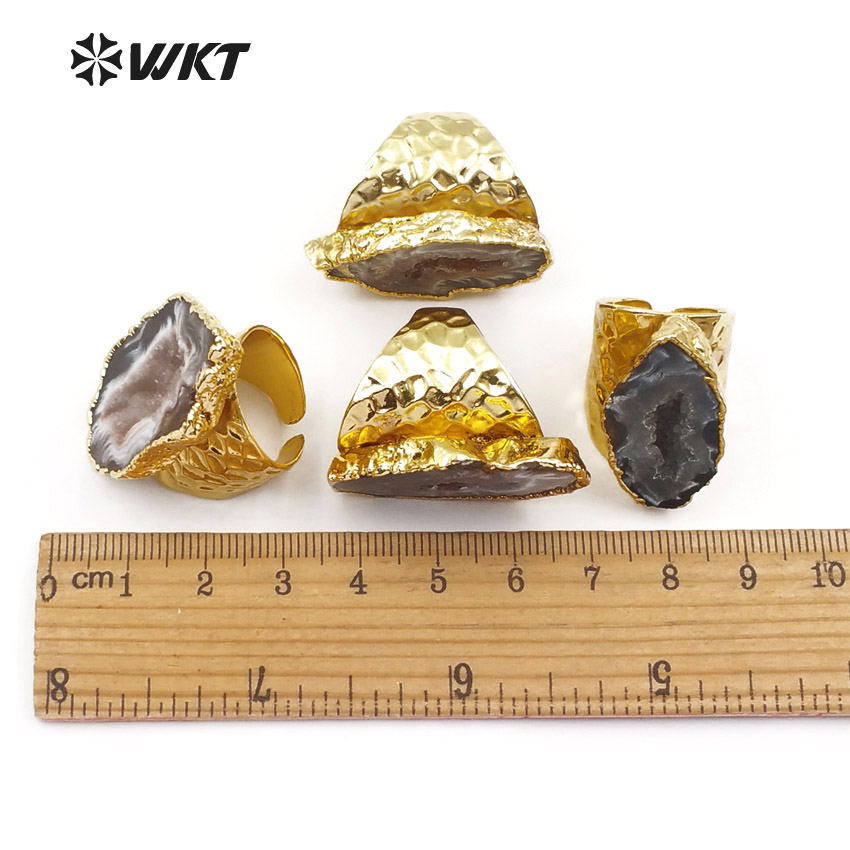 WT-R112 Exclusive Wholesale Women Fashion slice stone a gate rings - Fashion Jewelry - Photo 6