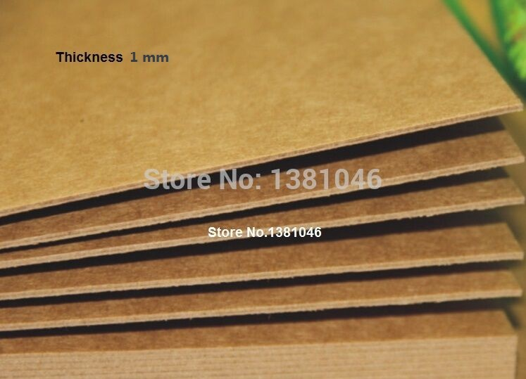 2 Sheets Blank Kraft Chipboard Cardstock Heavy 800gsm 1mm Plain Cardboard For Cardmaking Paper Craft 21 x 29.7cm