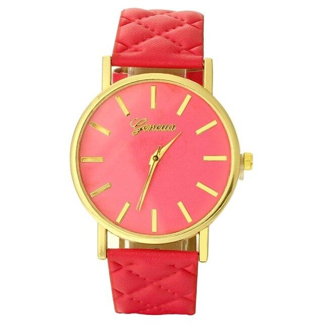 MINHIN Ladies Personalized Leather Watch New Design Wavy Wires Pattern Geneva Wa