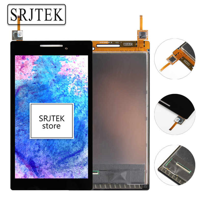 Srjtek New 7'' inch LCD Display + Touch Screen Digitizer Assembly Replacements For Lenovo Tab 2 A7-10 A7-10F High Quality srjtek 8 inch for samsung galaxy note 8 n5100 3g lcd display panel touch screen digitizer assembly