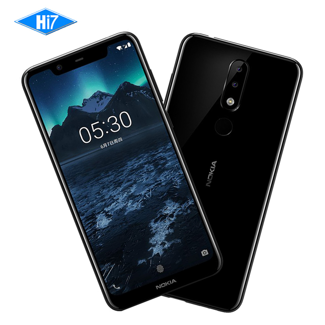 "2018 New Nokia X5 64G ROM 4G RAM 3060mAh 3 Camera Dual Sim Android Fingerprint 5.86"" 13.0MP Octa Core LTE 4G Smart Cell Phone"
