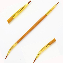 1pcs  Quality etch& sketch double-ended bamboo liner brush makeup eyeliner brushes