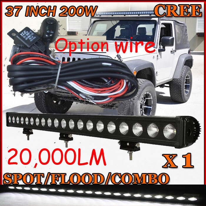 Free DHL/UPS/FEDEX ship!  37 200W,20000LM,10~30V,6500K,LED working bar;led offroad bar,Option wire harness,SUV,LED bar light free dhl ups fedex ship 41 150w 13000lm 10 30v 6500k led working bar led offroad bar option wire harness suv led bar light