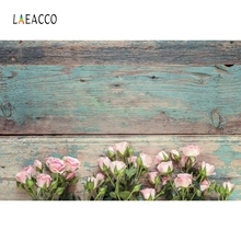 Laeacco Retro Wooden Board Food Cake Baby Portrait Photography Backgrounds Customized Photographic Backdrops for Photo Studio