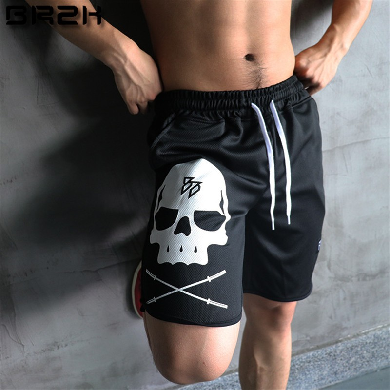 Gymlocker 2017 Mens Casual Summer Shorts Sexy Sweatpants Male Fitness Bodybuilding Workout Man Fashion Crossfit Short Pants Soft And Light Men's Clothing