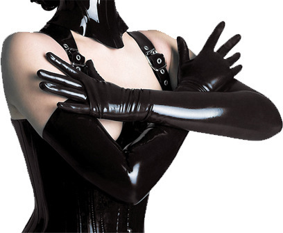 Buy Hot Women's Sexy Lingerie Accessories PVC Long Evening Gloves Gothic Glam Punk Elbow Sexy Catwoman Long Leather Gloves Show