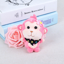 Cartoon Plush Toy Monkey Pendant Bouquet Buwa Doll Color Scarf Keychain Mobile Phone Bag