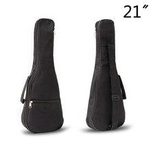 """Водонепроницаемый 2"""" Чехол для гитары, мягкий чехол, регулируемые лямки для гитары, сумки для переноски, нейлон, Оксфорд, Гавайские гитары, черный чехол для гитары, сумка для Гига"""