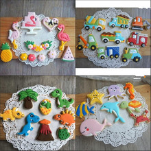 8Pcs/Set Car Shape Cookie Cutter Tools Cute Cartoon 3D Christmas Gingerbread House Mould DIY Pastry Embossing Cookie Biscuit Bak