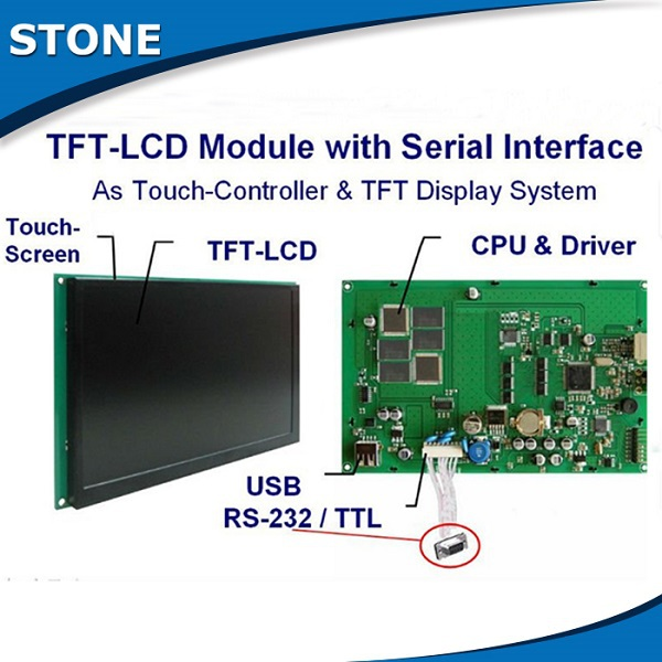 STONE TFT LCD 10.1 Display With Touch ScreenSTONE TFT LCD 10.1 Display With Touch Screen