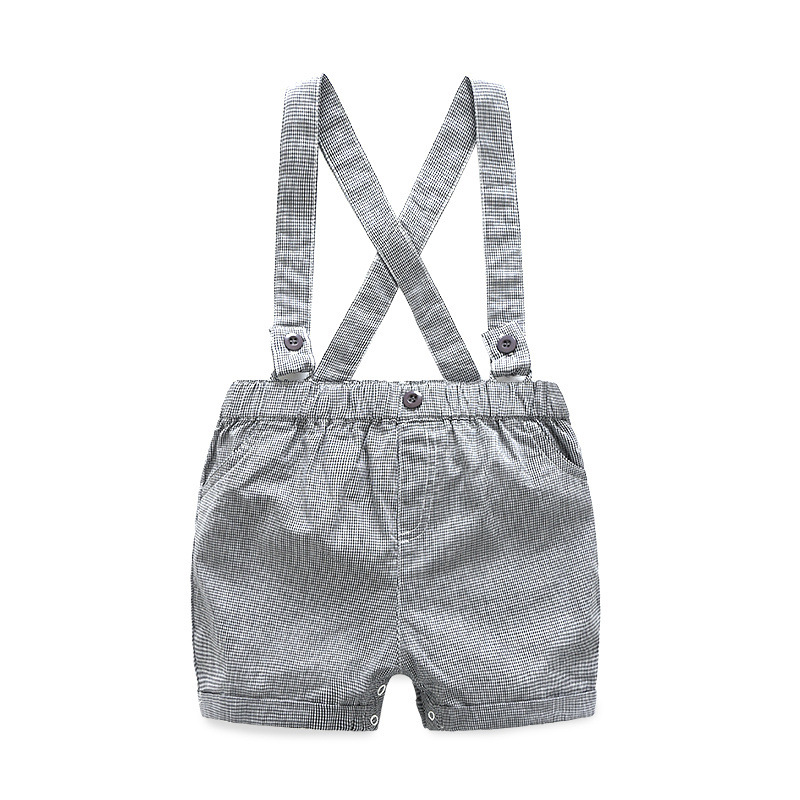 New Born Clothing Baby Boy Girl Animal Short Sleeve T-Shirt Tops+Grey Plaid Short Pants Outfit Casual Outfit Kids Rompers Sets 5
