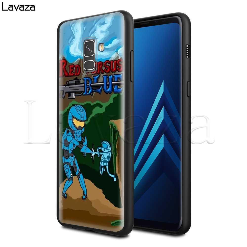Lavaza красный и синий мягкий силиконовый чехол для Samsung Galaxy S6 S7 край S8 S9 S10e плюс A3 A5 A6 A7 A8 A9 J6 Note 8 9 2018