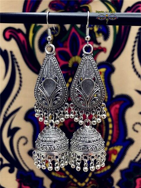 e4ea067da0ea12 Miao Tybet Silver Side Hollow Wzór Kolczyki Thai srebrne kolczyki Tajlandii  Nepal Hippie Boho tribal naród