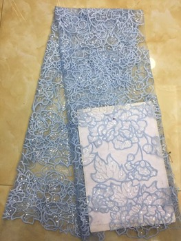best Quality ZH-31312 African Tulle Lace Fabric fashion African French Lace Fabric with sequins