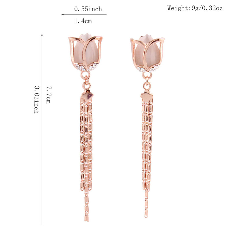 Грейс юни висококачествена дълга - Модни бижута - Снимка 4