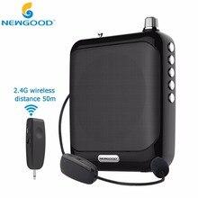 2,4G Stimme Verstärker Megaphon Booster Mikrofon Mini Tragbare Lautsprecher USB Tf-karte FM radio für Lehrer Reiseleiter Förderung