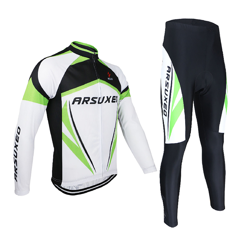 UV Protection Men's Long Sleeve Cycling Jersey Sets Breathable MTB Bike Bicycle Sportswear Cycling Clothings 3 Colors wosawe men s long sleeve cycling jersey sets breathable gel padded mtb tights sportswear for all season cycling clothings
