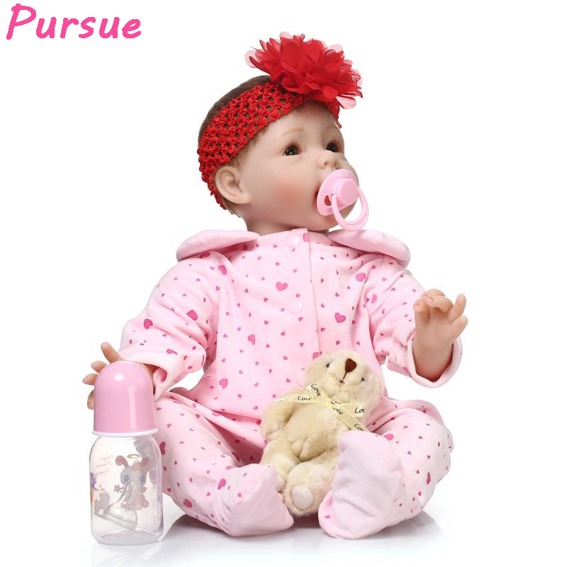 Pursue 100 reborn babies baby-reborn dolls for girls bebe reborn menina de silicone menina brinquedos bonecas baby alive Doll 22 cute 17 silicone baby dolls for sale with lovely high quality bear clothes bonecas baby alive most hot sell brinquedo menina
