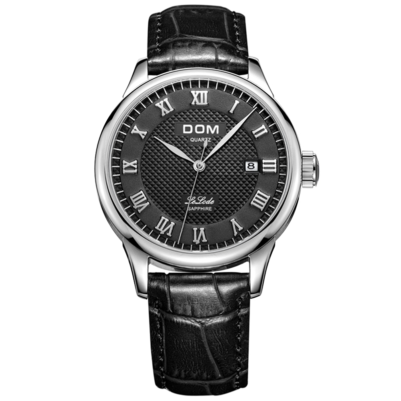 DOM Fashion Watch Men Stainless Steel Wrist Watch Bracelet Men's Watches Quartz Clock Male Watches Hours Relogio Masculino