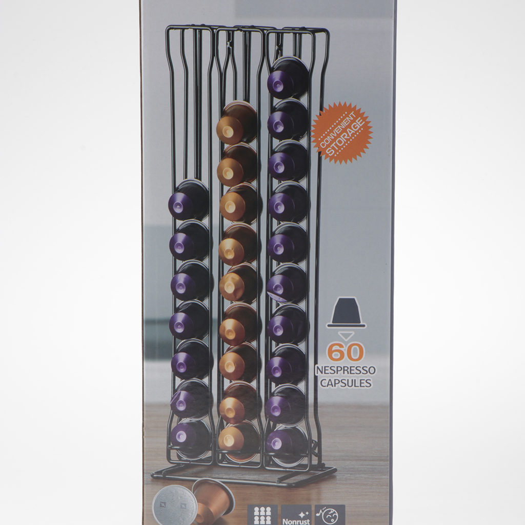 Nespresso Coffee Capsule Rack Holder 60 Pods Stand Tower Dispenser