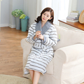 FASHION Casual Robes Autumn Winter Women Pajamas Sexy Warm Cotton Bathrobe Dressing Gown Home Wear Nightgown free shipping