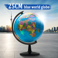 25cm Globe World Map With Stand Globe terrestre Map Earth School Supply Geography Educational Tools Home Office Decorations Gift